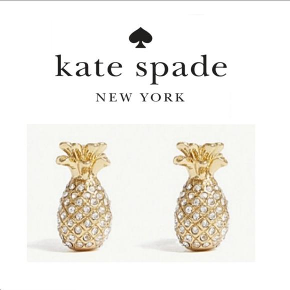 kate spade Jewelry - ♠️ Kate Spade♠️ Pave Pineapple Earrings